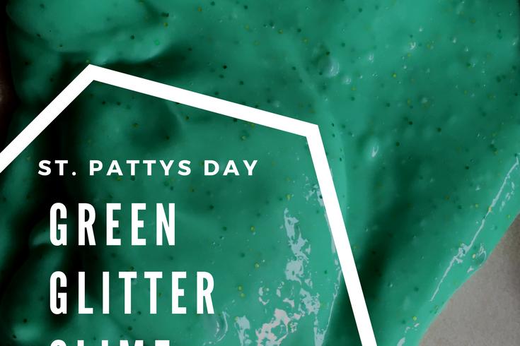 green glitter slime