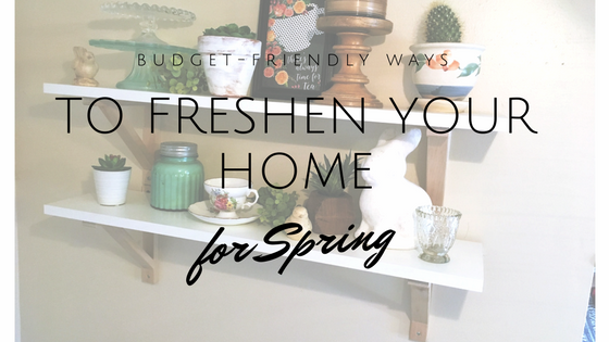budget friendly spring decor