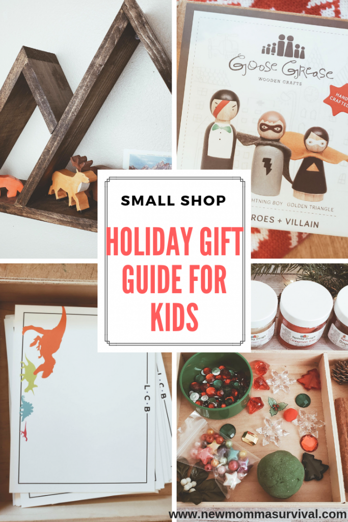 small shop holiday gift guide for kids