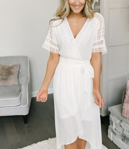 white boho dresses