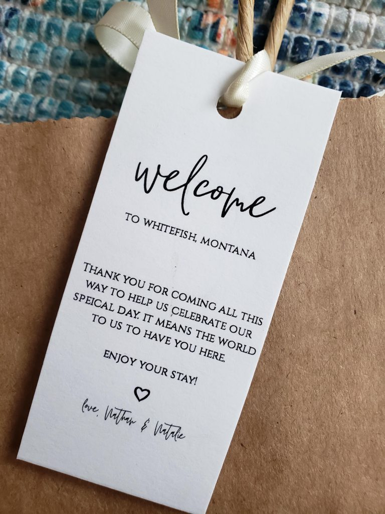 affordable wedding welcome bags