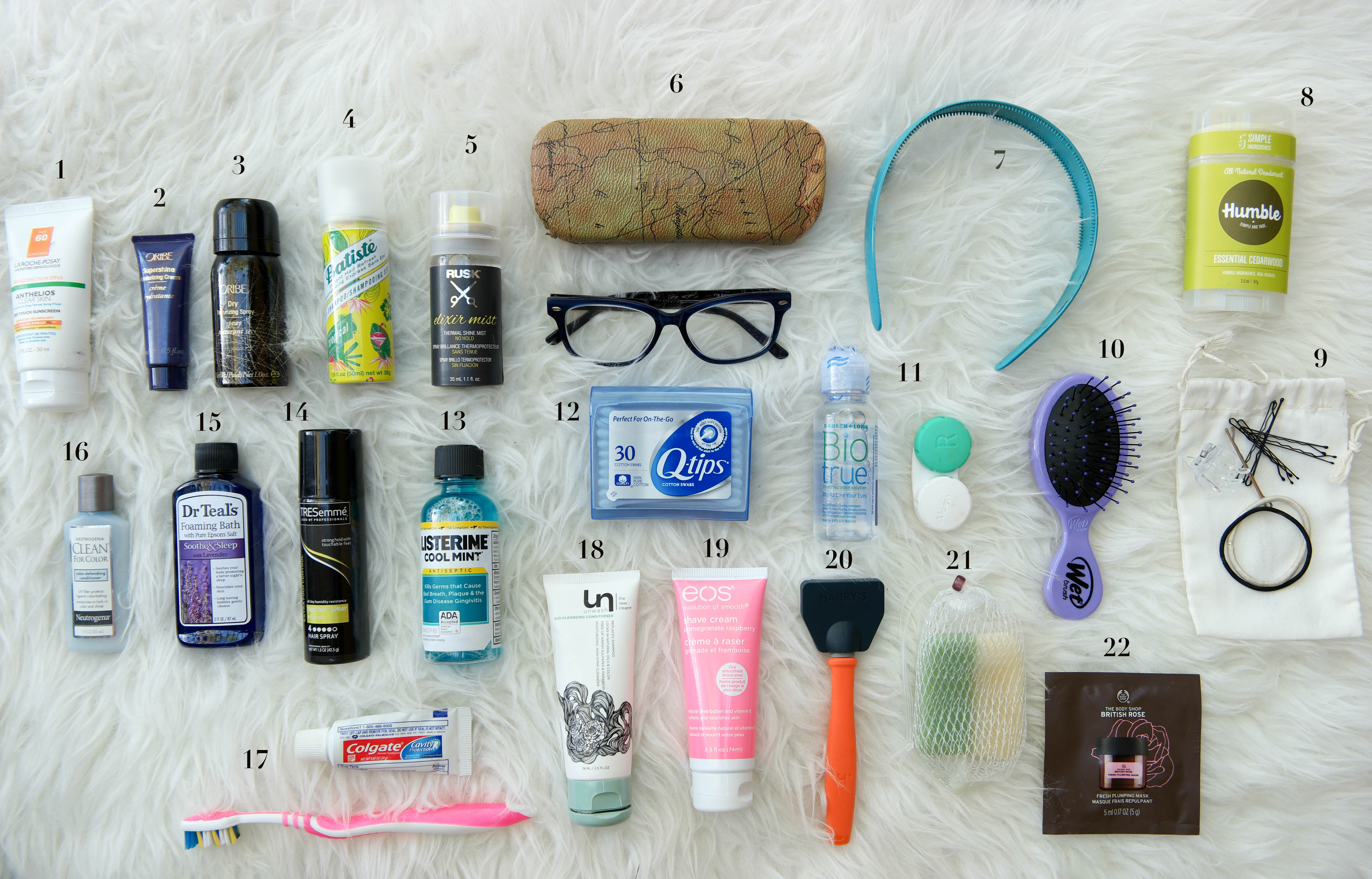 travel toiletries checklist