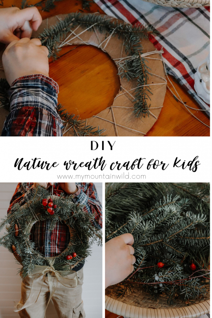 DIY Nature wreath craft