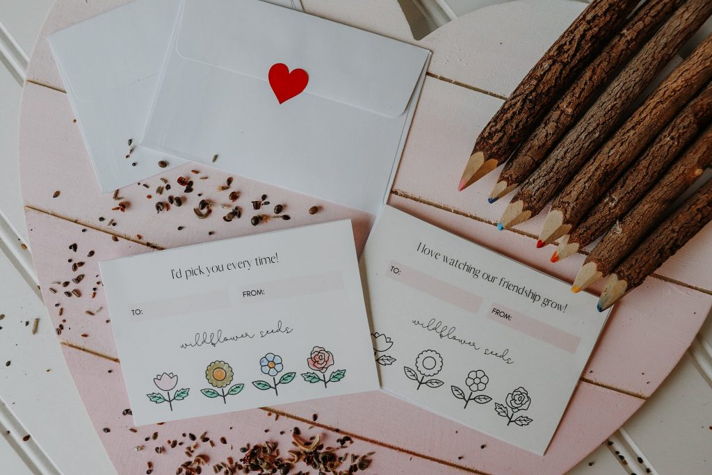Valentine's Day DIY Wildflower Seed Packets