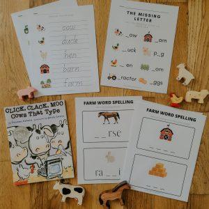 Click Clack Moo Cows That Type Spelling Activities Bundle